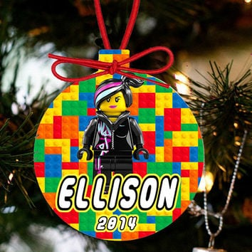 Personalized Christmas LEGO Ornament - Lego Movie Character Wyldstyle