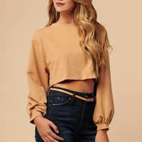 I've Been Changed Cropped Sweater (Tan)