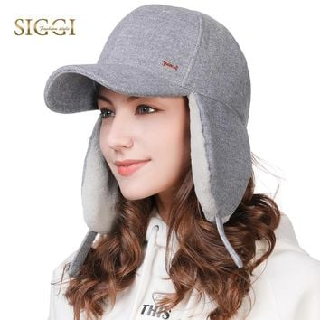Trendy Winter Jacket FANCET Winter Wool Unisex Baseball Caps For Women Men Adjustable Ear Flap Protection Warm Snapbacks Gorros Female Hats 99717 AT_92_12