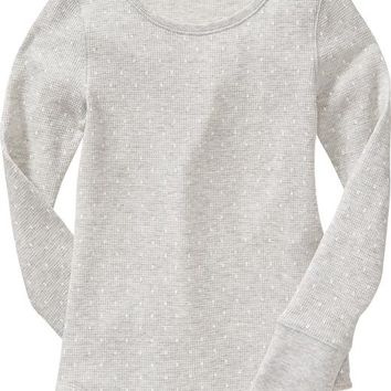 Old Navy Girls Patterned Waffle Knit Tees