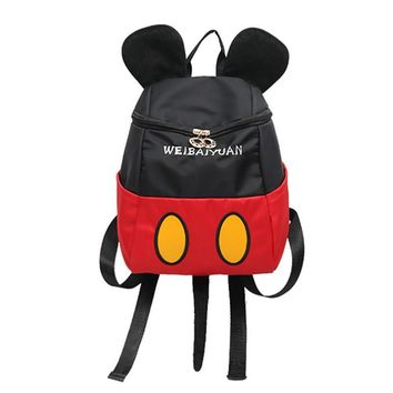 Mickey Minnie Backpacks 2017 New Female Bags Super Quality Teenager Girl Backpacks Mouse Ears Sweet Girl Bow College Travel Ruck