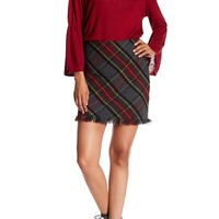 Sanctuary | Tartan Plaid Frayed Trim Skirt | Nordstrom Rack