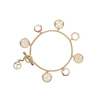 Tory Burch Perforated Charm Simple Bracelet