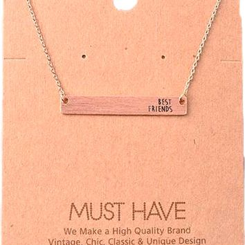 Must Have-Best Friends Bar Necklace,  Rose Gold