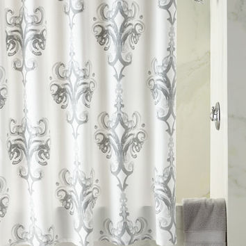Kassatex Rifiki Damask Shower Curtain | Neiman Marcus