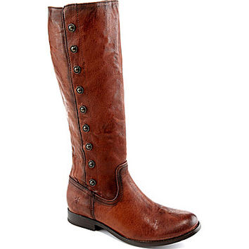 Frye Melissa Military Tall Boots - Cognac