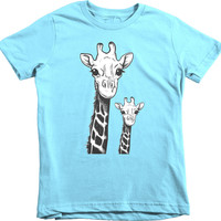 Trunk Candy Girls Giraffes Premium 100% Cotton T-Shirt