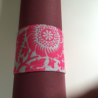 Yoga Mat Straps- Pink and Grey Modern