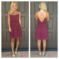 Aged Fine Wine Double Strap Dress