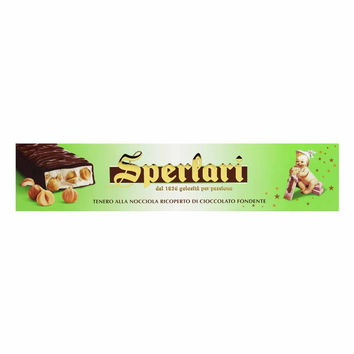 Soft Torrone Nougat with Hazelnut Chocolate by Sperlari 8.7 oz (250g)