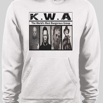 K.W.A HORROR MOVIE KILLERS NWA PARODY PULL OVER WINTER HOODIE