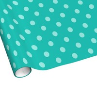 Misty Teal Polka-dot Wrapping Paper