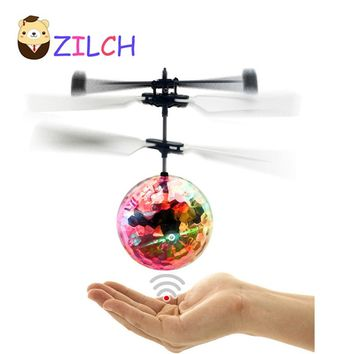 Super anti-drop Helicopter Flying Transparent Crystal Ball Quadcopter Drone Ar.drone Kids Toy VS Fairy Doll