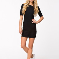 BARDOT TUBE DRESS - Black Short sleeve dress by RIVER ISLAND