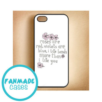 I Like Bands More Than I Like You iPhone 4/4s 5/5s/5c & iPod 4/5 Rubber Case