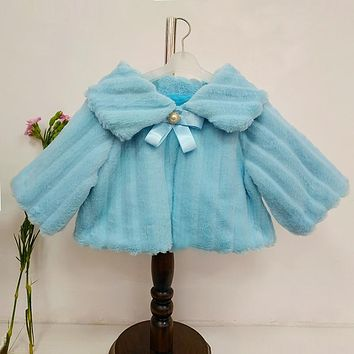 Winter Warm Baby Girls Wool Fur Coats 24