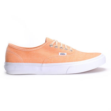 Vans Authentic Slim(Chambray)Coral/Wht