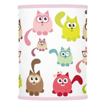 Cute cats,kid pattern,colorful,happy,fun,girly,tre lamp shade