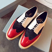 Prada Women Fashion Casual Flats Shoes