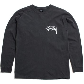 Stock Pigment Dyed Longsleeve T-Shirt Black