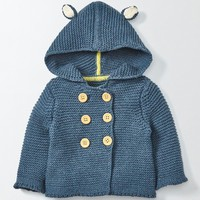 Mini Boden Knit Hooded Jacket (Baby & Toddler) | Nordstrom