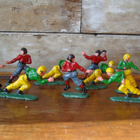 Vintage Retro Football Player Cake Toppers From The 1950s  Plastic Lot 9