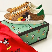 GUCCI Fashion Women Casual Mickey Mouse Print Sport Shoes Sneakers