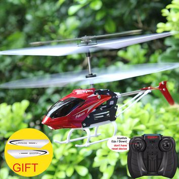 SYMA W25 2CH RC Aircraft Remote Control Electric Helicopter Indoor Mini Shatterproof Kids Flying Toys Model Red