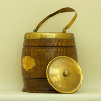 Antique, Vintage Oak Ice Bucket