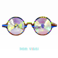 Tribal Festival Kaleidoscope Glasses Rainbow Lens