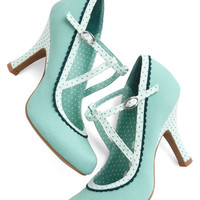 ModCloth Smart and Snazzy Heel in Seabreeze