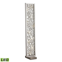 Basinger Abstract Metalwork LED Floor Lamp in Silver Silver