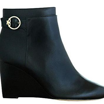 Tory Burch Sofia 85MM Wedge Bootie Women's Leather Shoes 50926