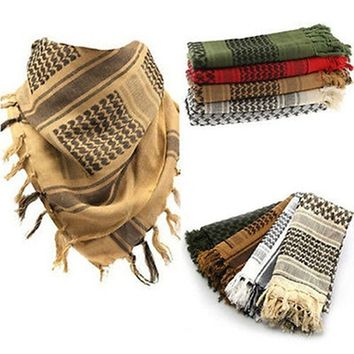 Winter Warm Unisex Fashion Lightweight Military Arab Tactical Desert Army Shemagh KeffIyeh Scarf