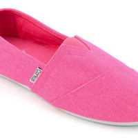 Corkys Girl's Sues Hot Pink Slip-On Shoes