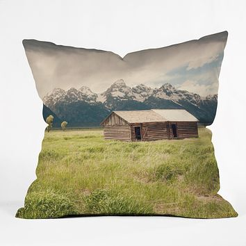 Catherine McDonald Summer In The Tetons Throw Pillow