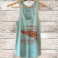 Astral Tepee Tank womens triblend tank brown by by barkdecor