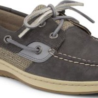 Sperry Top-Sider Bluefish Washable 2-Eye Boat Shoe Graphite, Size 8M  Women's Shoes