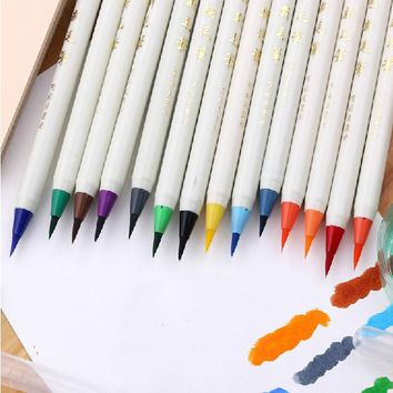 1 pc Water Color Soft Pen Brush Art Marker Highlighter For Kids Stationery Copic Markers Supplies School Washable
