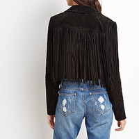 Genuine Suede Fringe Jacket