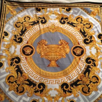 VERSACE MEDUSA BLANKET BED COVER Lion urn Baroque New in Bag VALENTINES SALE