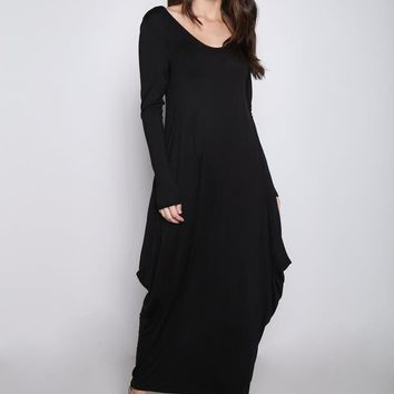 Women's Loose Fit Long Sleeve Maxi Dress