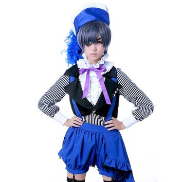 Ciel Phantomhive Cosplay Book of Circus Black Butler Anime Suit Polyester Uwowo Costume