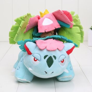"Pokemon Go Plush Toys 6"" 15cm Mega Evolution Venusaur Soft Stuffed Toy Animals Doll"