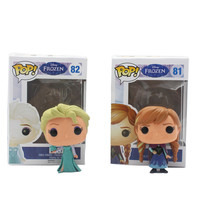 Funko Pop White Princess Elsa Anna olaf PVC Anime Hot Movie Vinyl Movable head Cute Action Figure Collection Kid's Gifts Toys
