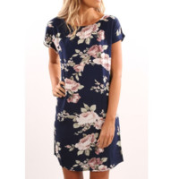 Women Printed Short-Sleeved Dress