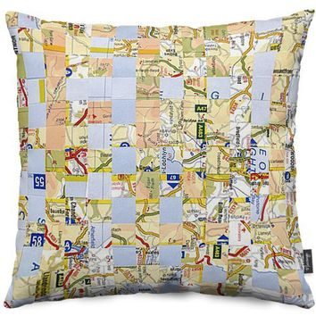 Road Map Throw Pillows by Jan Bickerton | Nuvango