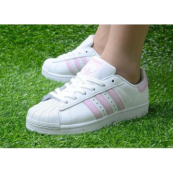 Originals Adidas Superstar Women's Classic Sneaker Sprot Shoes Pink - BA9915