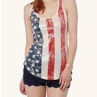 Sequined Old Glory Tank