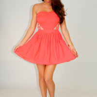 RESTOCK: Don't Mind If I Do Dress: Neon Coral